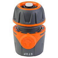 """Коннектор ½"""" быстросъёмный для шланга ½"""" аквастоп FLORA (5015494), фото 1"""