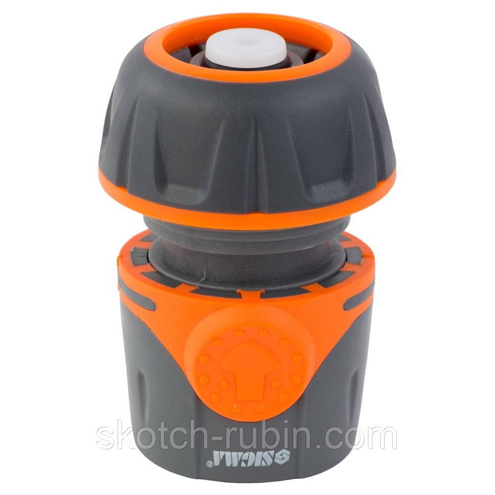 """Коннектор ½"""" быстросъёмный для шланга ¾"""" аквастоп FLORA (5015514)"""