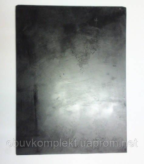 Полиуретан обувной размер 240*180*6 мм гладкий цв. черный