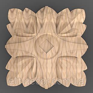 Резная квадратная розетка 60x60x10. RK-001