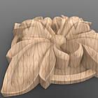 Резная квадратная розетка 60x60x12. RK-002, фото 2