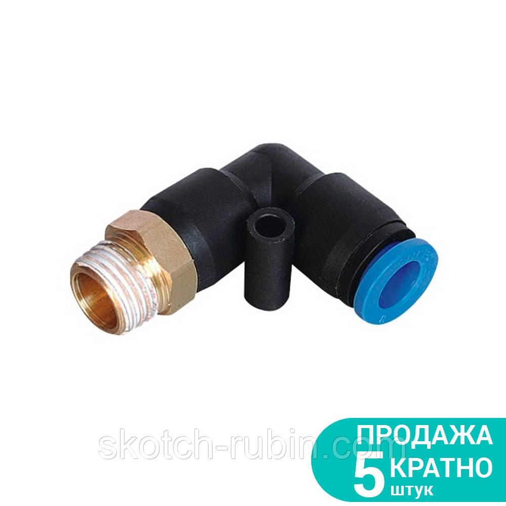 """Штуцер цанговый (угловой) Ø6*6*6мм МТ 3/8"""" Sigma (7027101)"""