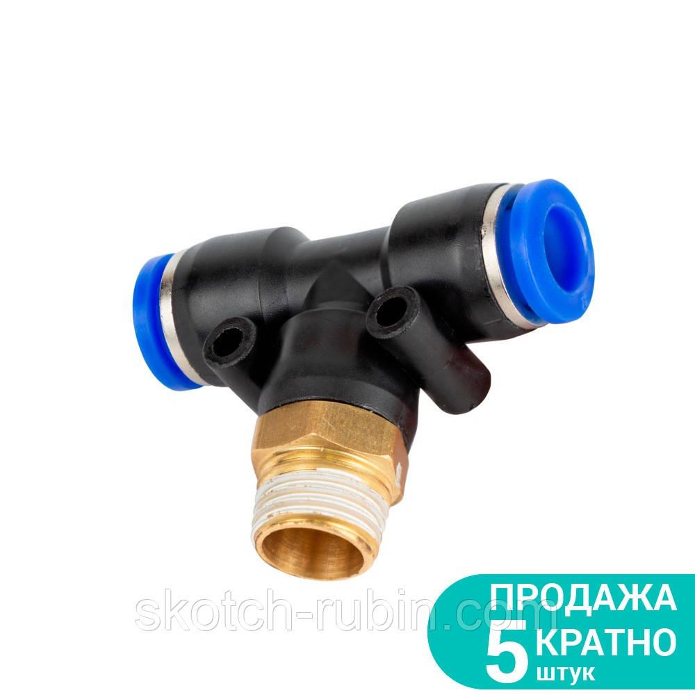 """Штуцер цанговый (Т-образный) Ø6*6*6мм МТ 3/8"""" Sigma (7027341)"""