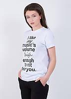 Женская футболка с надписью 9222 Белый