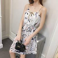 Красивое приталенное платье на резинке (42-44)