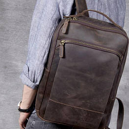 Мужской  рюкзак (натуральная кожа) Модель DM-29