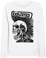 Женский свитшот The Exploited - Skull (белый)