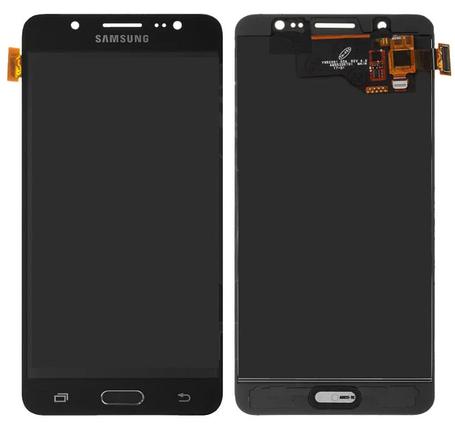 Дисплей (екран) для Samsung J510H Galaxy J5 (2016) з сенсором (тачскріном) черный з регулюванням (TFT), фото 2