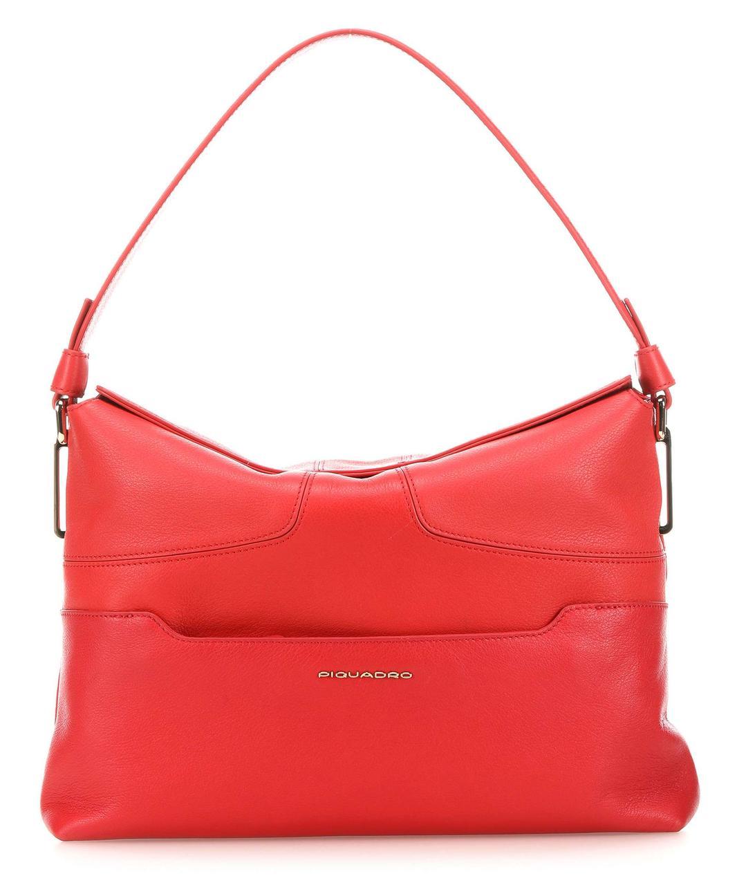 Кожаная женская сумка Piquadro Hosaka, красный