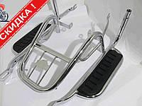 Багажник задний металлический   Alpha   (с подножками)   KOMATCU
