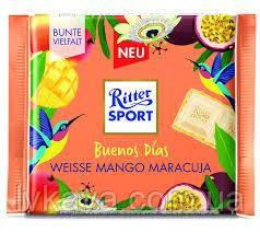 Белый шоколад  Ritter Sport  Buenos Dias Mango Maracuja , 100 гр