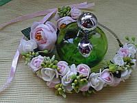 """Ободок с цветами """"Розовая нежность"""""""
