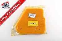 Элемент воздушного фильтра   Yamaha JOG 3KJ   (поролон с пропиткой)   (желтый)   AS