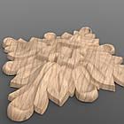 Резная квадратная розетка 60x60x8. RK-017, фото 2