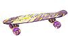 Скейт Пени Борд Penny Board с подсветкой колес фиолетовый, фото 3
