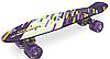 Скейт Пени Борд Penny Board с подсветкой колес фиолетовый, фото 4