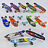 Скейт Пени Борд Penny Board с подсветкой колес фиолетовый, фото 5