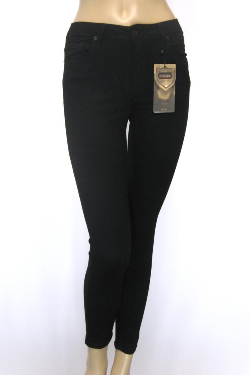Жіночі чорні джинси скінні з високою талією