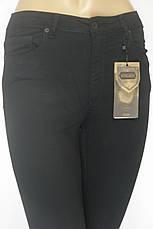 Жіночі чорні джинси скінні з високою талією, фото 2