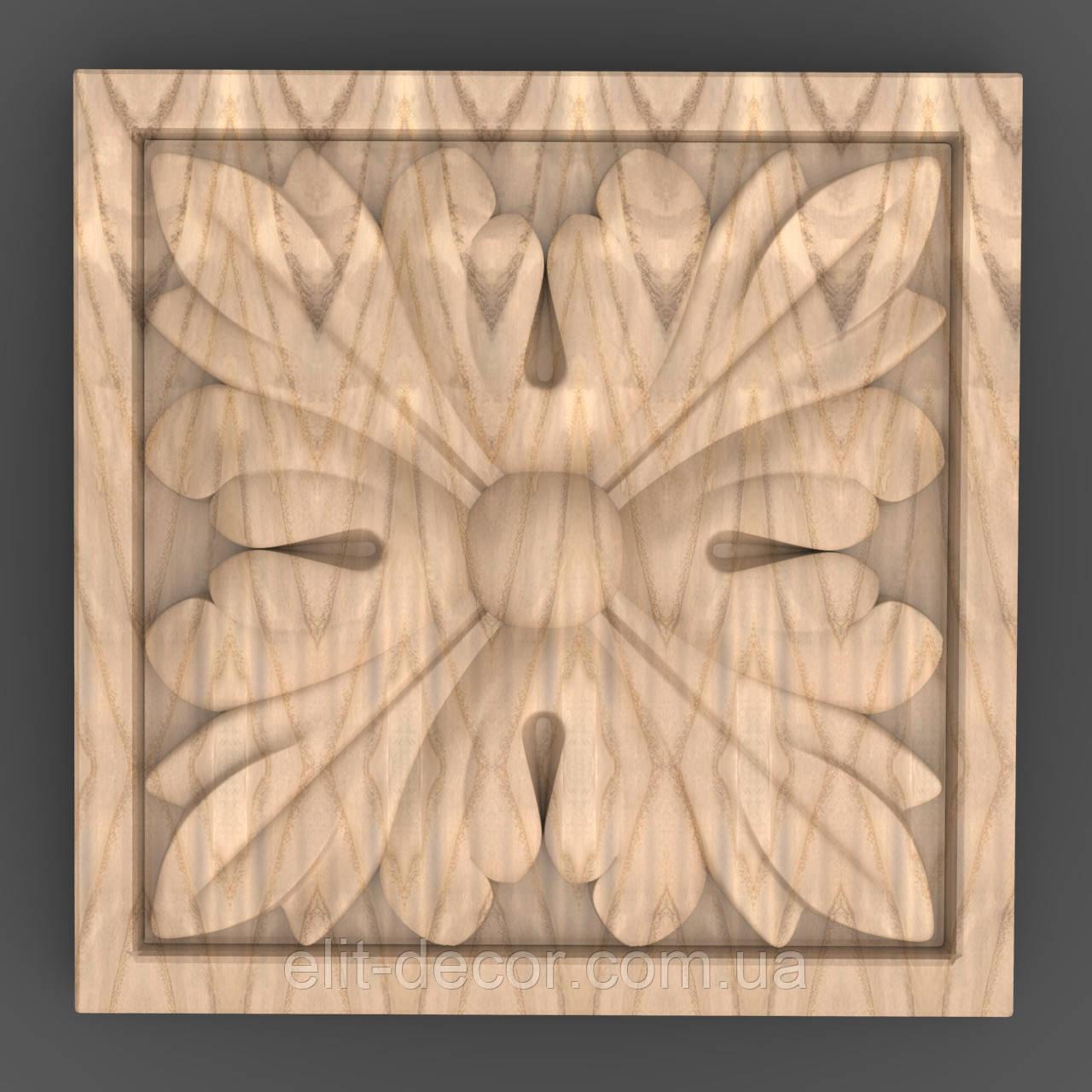 Резная квадратная розетка 60x60x8. RK-020