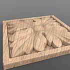 Резная квадратная розетка 60x60x8. RK-020, фото 2