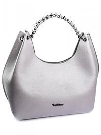 Жіноча гарна шкіряна сумка сіра 0358.486 Lila