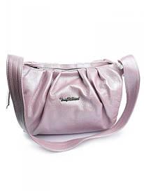 Жіноча шкіряна сумка бузкова 0396.490