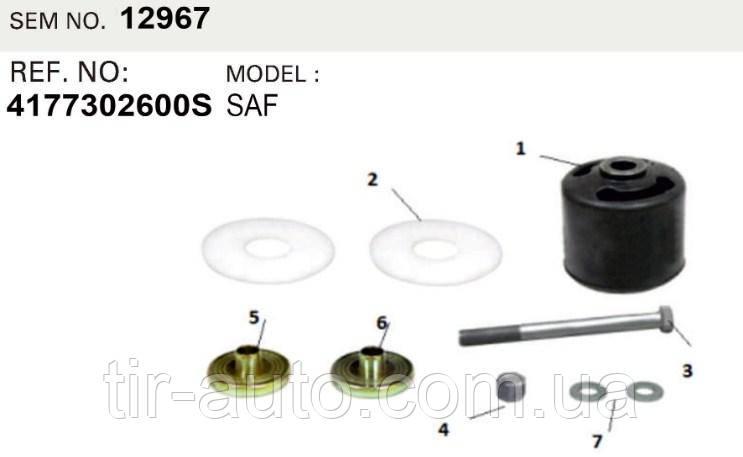 Ремкомплект крепления полурессоры SAF 3D INTRAAX, Intradisc Plus ( 31,5x152x171 ) ( SEM LASTIK ) SEM12967