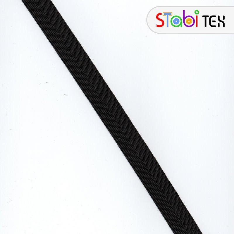 Лямовка тесьма окантовочная (обтачка) Ёлка 23мм - 660гр (100м/боб) Чёрный