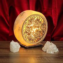 Ночники из соли в форме круга