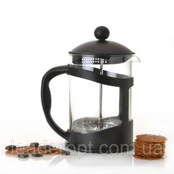 [ОПТ] BN-136 Френч -пресс для чая 600мл, стекло+пластик