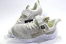Детские кроссовки на липучке Baas, Beige\White, фото 3