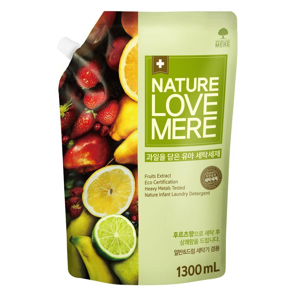 """NATURE LOVE MERE - Гель для стирки детских вещей с экстрактом фруктов """"Fruit Baby"""", 1.3 л"""
