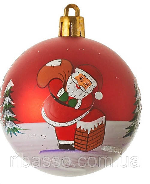 """Елочный пластиковый шарик """"House of Seasons"""" 6 см, """"Санта"""""""