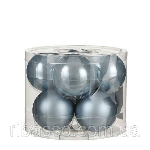 """Елочные шарики """"House of Seasons"""" комплект 8 шт, цвет синий"""