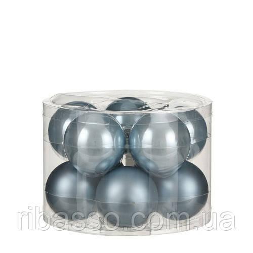"""Елочные шарики """"House of Seasons"""" комплект 10 шт, цвет синий"""