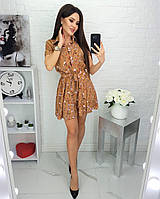 Женское прогулочное легкое летнее мини платье (софт) 2 цвета