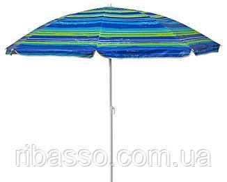Зонт пляжный с наклоном TE-018, 1,8 м полосатый