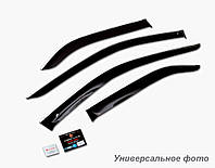 Дефлекторы окон (ветровики) Kia Sportage III 2010-2015 (с хром молдингом)