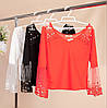 Нарядная красивая блузка с бусинками 42-44 ( в расцветках), фото 2