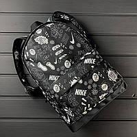 Городской рюкзак, портфель с принтом повседневный Nike Non Stop X-black спортивный мужской / женский портфель