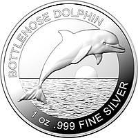 Серебряная монета - Австралийский Дельфин серебро 2019 (Australian Bottlenose Dolphin 2019) 1 oz