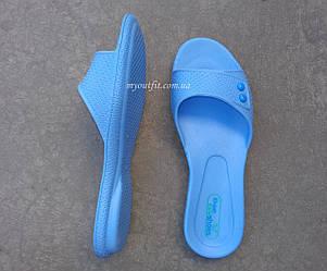 Женские сланцы голубые Размеры 36-40