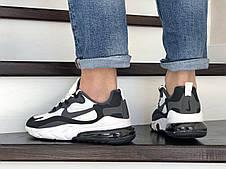 Модные кроссовки Nike Air Max 270 React,белые с черным, фото 3