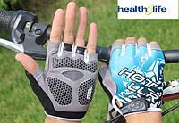 """Велоперчатки, велорукавички, спорт, велоперчатка """"антиудар"""", нескользящие фирма Zacro размер L"""