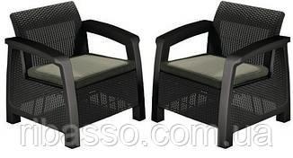 Кресло, Bahamas Duo коричневый - серо-бежевый