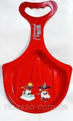 Санки Alpen Rutscher красные с рисунком