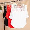 Элегантная блузка с укороченными рукавами 42-44 ( в расцветках), фото 2