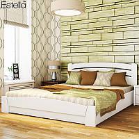 Деревянная кровать Селена Аури с подъёмным механизмом из бука. Двуспальная или полуторная кровать из дерева