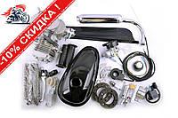 Двигатель велосипедный (в сборе)   80сс   (мех.старт., бак, ручка газа, звезда, цепь, )   EVO